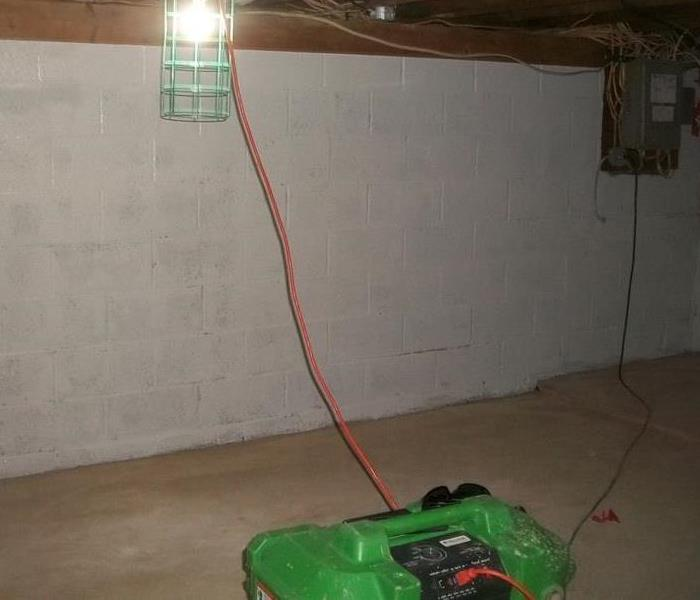 Mold Remediation Basement Job After