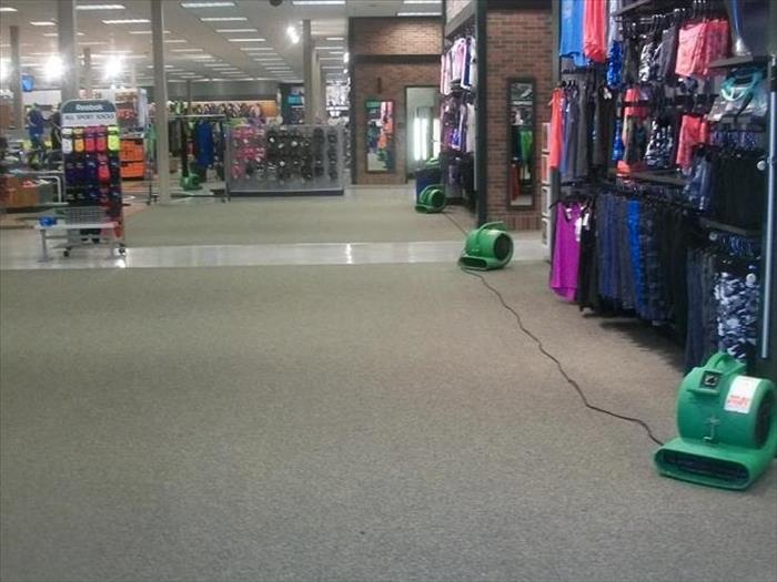 Water Damage at Dick's Sporting Goods